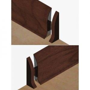 Set 4 buc piese de inchidere plinta (2 buc. dreapta + 2 buc. stanga) pentru plinta PVC culoare mahon inchis