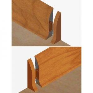 Set 4 buc piese de inchidere plinta (2 buc. dreapta + 2 buc. stanga) pentru plinta PVC culoare cires deschis