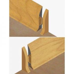 Set 4 buc piese de inchidere plinta (2 buc. dreapta + 2 buc. stanga) pentru plinta PVC culoare stejar auriu