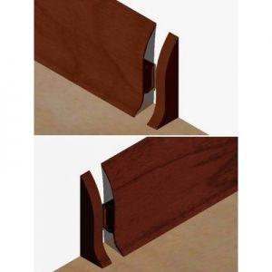 Set 4 buc piese de inchidere plinta (2 buc. dreapta + 2 buc. stanga) pentru plinta PVC culoare palisandru