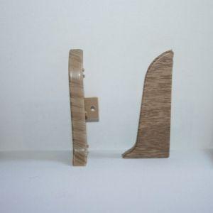 Set 4 buc. piese Lineco inchidere plinta (2 buc. dreapta + 2 buc. stanga) pentru plinta PVC culoare stejar Mocha