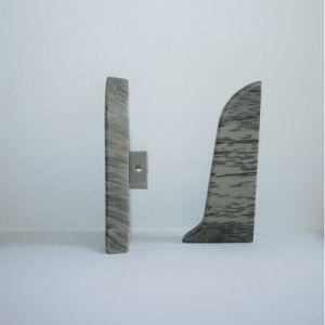 Set 4 buc. piese Lineco inchidere plinta (2 buc. dreapta + 2 buc. stanga) pentru plinta PVC culoare stejar cenusa