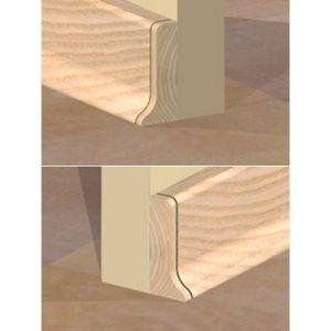 Set 4 buc piese de inchidere plinta (2 buc. dreapta + 2 buc. stanga) pentru plinta PVC culoare fag deschis
