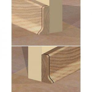Set 4 buc piese de inchidere plinta (2 buc. dreapta + 2 buc. stanga) pentru plinta PVC culoare fag