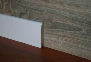 Plinta MDF Egger 80x15 mm culoare alb