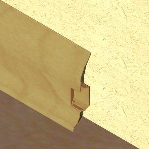 Plinta LINECO din PVC culoare stejar pentru parchet - 60 mm