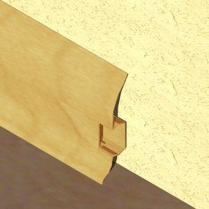 Plinta LINECO din PVC culoare stejar deschis pentru parchet - 60 mm