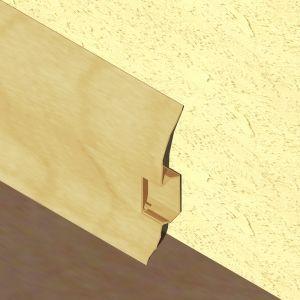 Plinta LINECO din PVC culoare fag pentru parchet - 60 mm