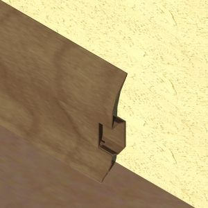 Plinta LINECO din PVC culoare wenge pentru parchet - 60 mm