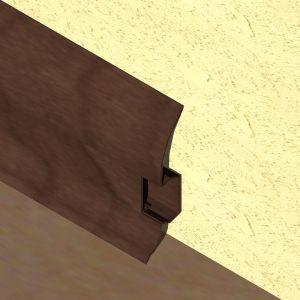 Plinta LINECO din PVC culoare mahon inchis pentru parchet - 60 mm