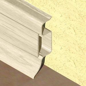 Plinta PROLUX din PVC culoare fag deschis pentru parchet 50 mm