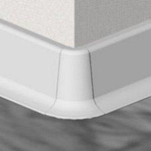 Set 4 buc piese de colt exterior pentru plinta PVC culoare alba