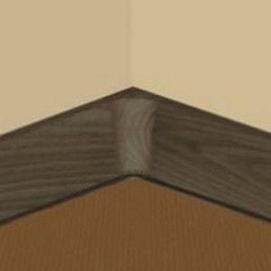 Set 4 buc piese de colt interior pentru plinta PVC culoare wenge