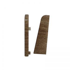 Set 2 buc. capac stanga / dreapta pentru plinta MDF culoare stejar bej
