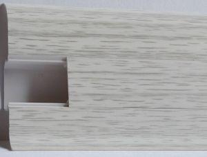 Plinta Lineco din PVC culoare frasin alb pentru parchet - 60 mm