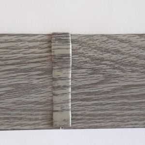 Set 4 buc. piese Lineco imbinare mijloc pentru plinta PVC culoare stejar cenusa