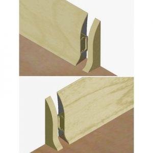 Set 4 buc piese de inchidere plinta (2 buc. dreapta + 2 buc. stanga) pentru plinta PVC culoare gri artar