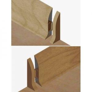 Set 4 buc piese de inchidere plinta (2 buc. dreapta + 2 buc. stanga) pentru plinta PVC culoare stejar