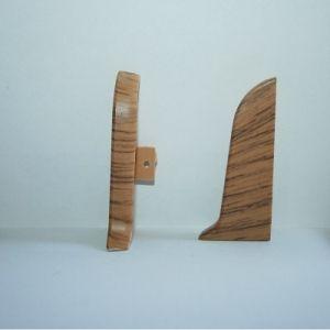 Set 4 buc. piese Lineco inchidere plinta (2 buc. dreapta + 2 buc. stanga) pentru plinta PVC culoare stejar miere
