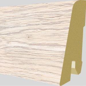 Plinta MDF Egger 60x17 mm culoare Stejar Newbury Alb